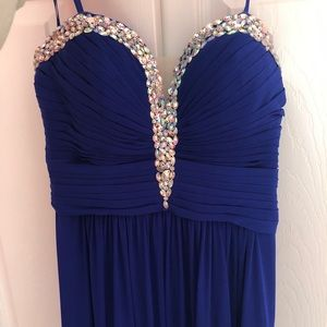 ROYAL BLUE PROM DRESS - NEVER WORN